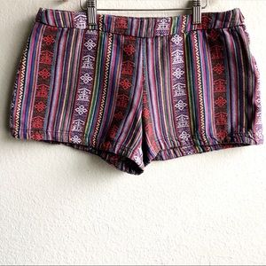 Free People Aztec Pattern Mexican Blanket Shorts 4
